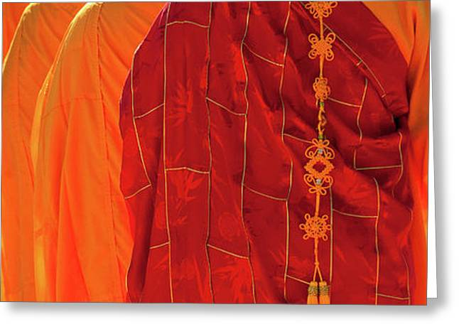 Buddhist Monks Greeting Card by Rick Piper Photography