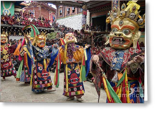 Buddhist Region Greeting Cards - Buddhist Opera - Kham Tibet Greeting Card by Craig Lovell