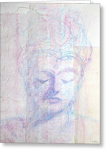 Photo By Asha Greeting Cards - Buddhist Queen of Long Ago Greeting Card by Asha Carolyn Young