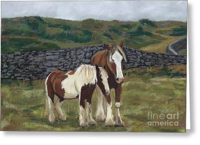 Fauna Pastels Greeting Cards - Buddies Greeting Card by Mary Benke