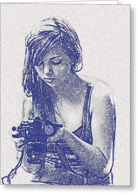 Teen Greeting Cards - Budding Photographer Greeting Card by Jane Schnetlage