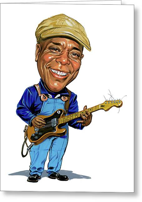 Famous Person Paintings Greeting Cards - Buddy Guy Greeting Card by Art
