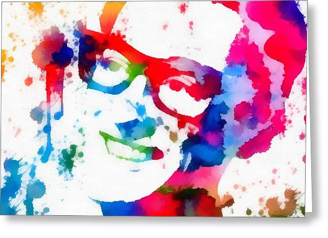 Lubbock Greeting Cards - Buddy Holly Greeting Card by Dan Sproul