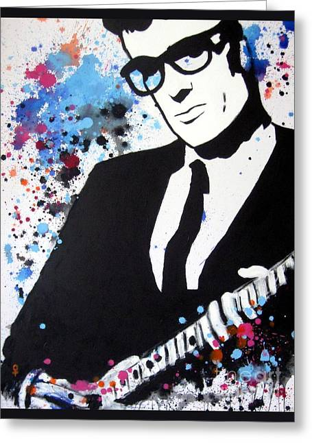21st Century Art Greeting Cards - Buddy Holly Greeting Card by Venus