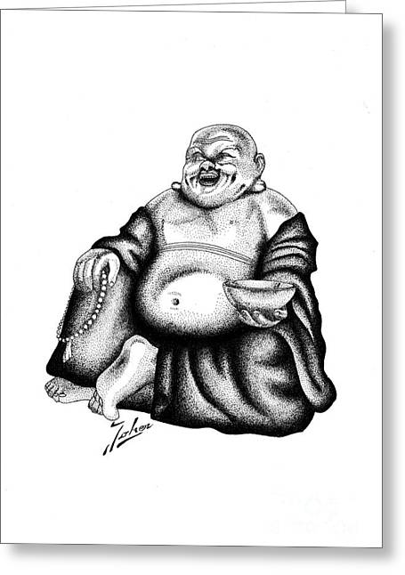 Valuable Drawings Greeting Cards - Budha Greeting Card by Joker  Gallery