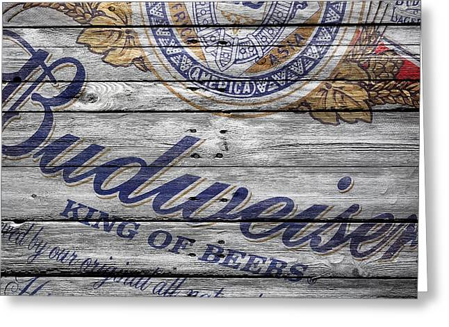 Saloons Greeting Cards - Budweiser Greeting Card by Joe Hamilton
