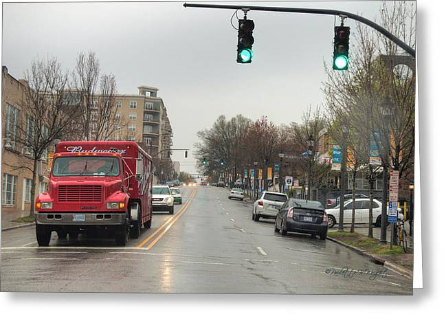 Budweiser Truck - Glenwood South Greeting Card by Paulette B Wright