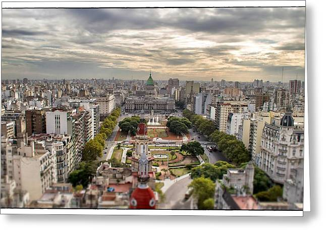 Buenos Aires Gifts Greeting Cards - Buenos Aires Congress Tilt Shift Greeting Card by For Ninety One Days