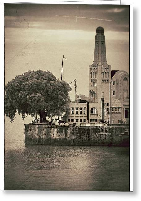 Buenes Aires Guide Greeting Cards - Buenos Aires Lighthouse Vintage Greeting Card by For Ninety One Days