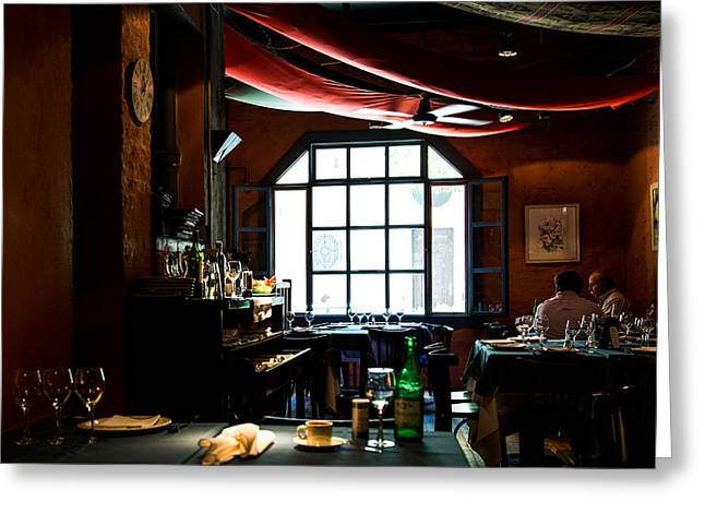 Buenos Aires Art Greeting Cards - Buenos Aires Neighborhood Restaurant Greeting Card by John Daly