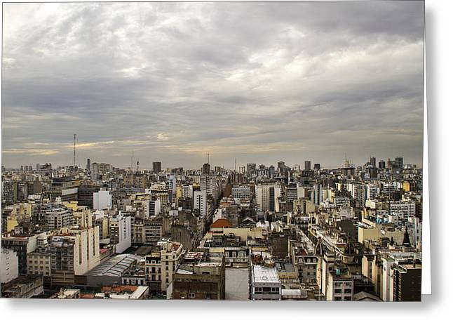 Buenos Aires Gifts Greeting Cards - Buenos Aires Panorama Greeting Card by For Ninety One Days