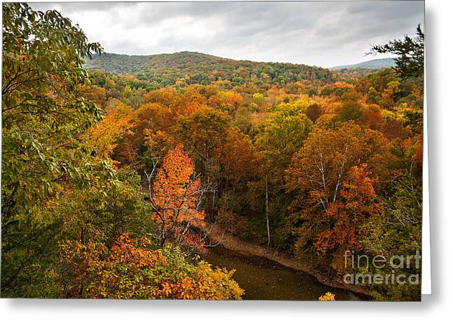 Ozark Mountains Greeting Cards - Bufallo River in the Autumn Greeting Card by Brandon Alms