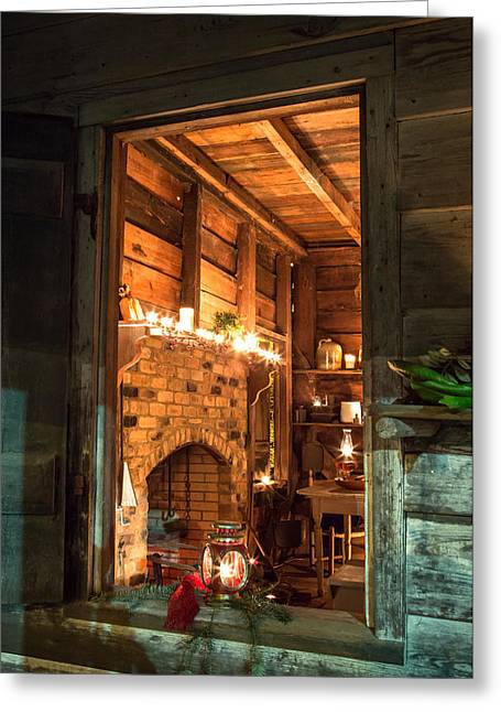 """oldest Wood Building"" Greeting Cards - Buff Kitchen-3 Greeting Card by Charles Hite"