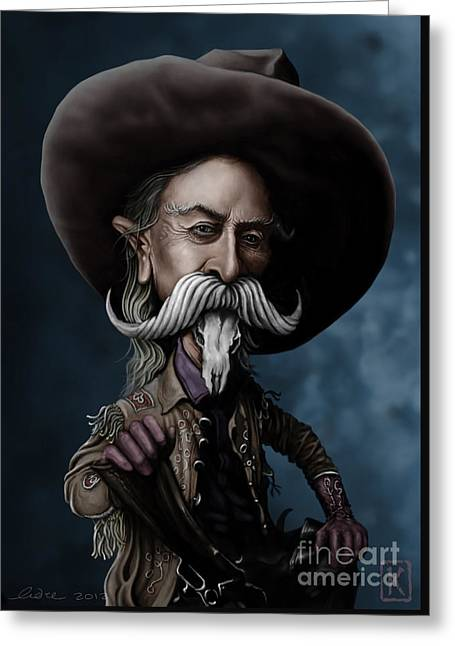 Buffalo Bill Greeting Card by Andre Koekemoer