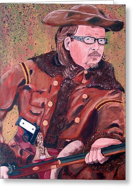 Self-portrait Greeting Cards - Buffalo Bill Rides Again Greeting Card by Kevin Callahan