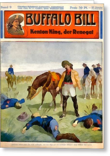 The American Buffalo Greeting Cards - Buffalo Bill The Renegade  Greeting Card by Dime Novel Collection