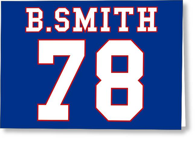 Stadium Greeting Cards - Buffalo Bills Bruce Smith Greeting Card by Joe Hamilton