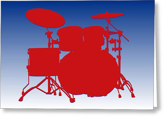 Drum Greeting Cards - Buffalo Bills Drum Set Greeting Card by Joe Hamilton