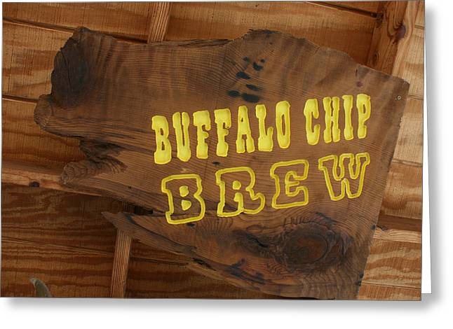 Marsha Ingrao Greeting Cards - Buffalo Chip Brew Anyone Greeting Card by Marsha Ingrao