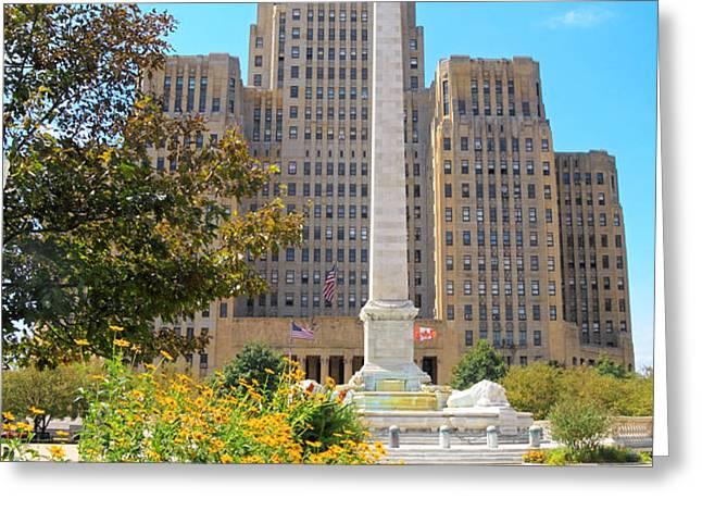 Buffalo City Hall Greeting Card by Charline Xia