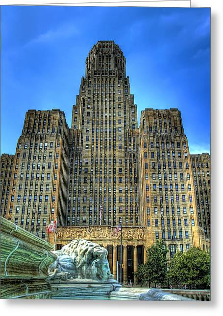 City Hall Greeting Cards - Buffalo City Hall Greeting Card by Tammy Wetzel