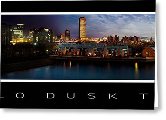 City Hall Greeting Cards - Buffalo Dusk To Dark 2 Greeting Card by Peter Chilelli