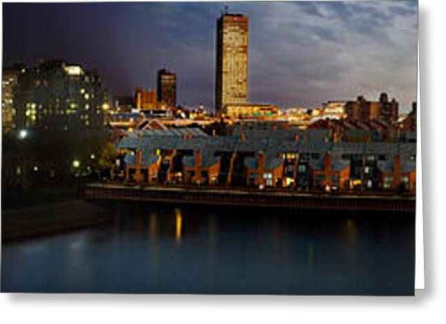 Hall Greeting Cards - Buffalo Dusk To Dark Greeting Card by Peter Chilelli