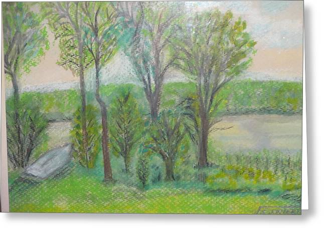 Scenic Pastels Greeting Cards - Buffalo Lake  Greeting Card by Stanley Wiertel