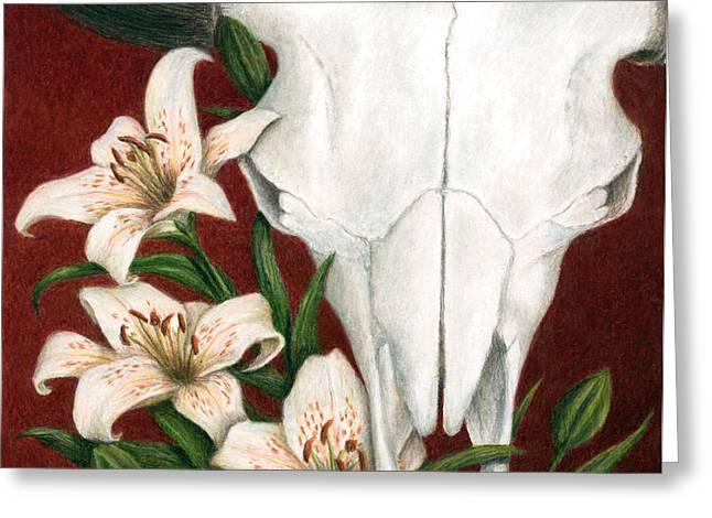 Buffalo Greeting Cards - Buffalo Lilies Greeting Card by Pat Erickson