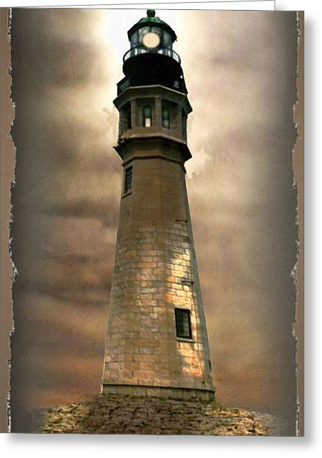 Gina Greeting Cards - Buffalo Main Lighthouse Greeting Card by Gina Femrite