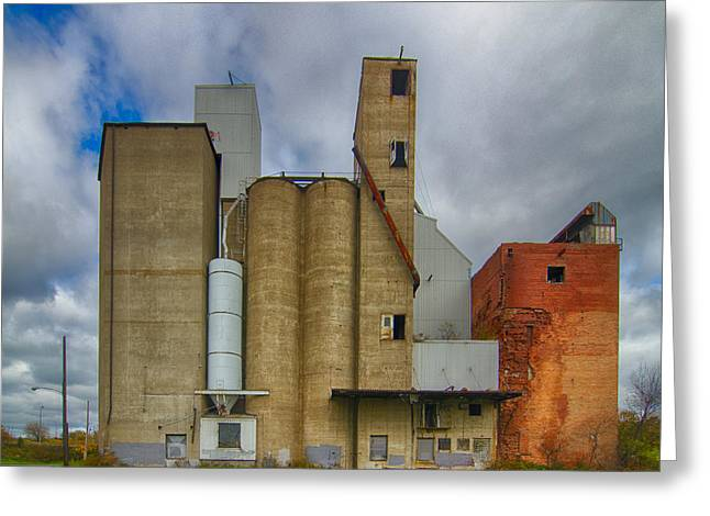 Maltings Greeting Cards - Buffalo Malting  7D08362 Greeting Card by Guy Whiteley