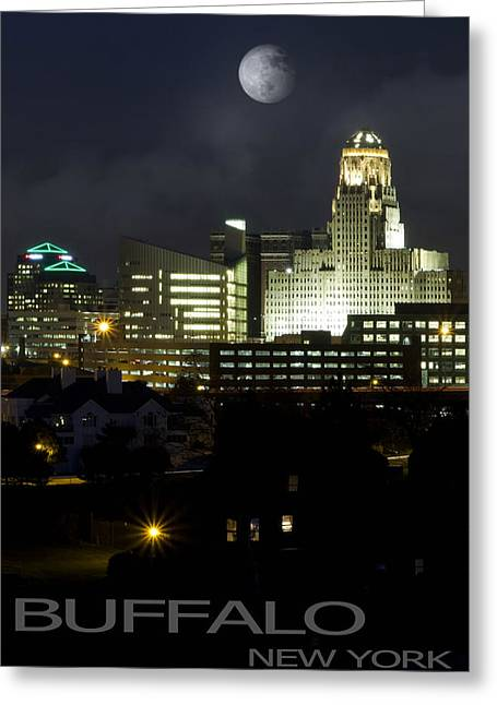Center City Greeting Cards - Buffalo New York Greeting Card by Peter Chilelli