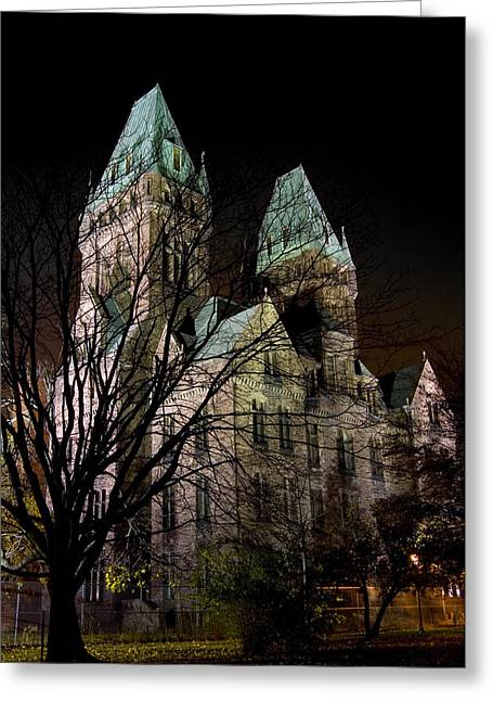 Recently Sold -  - Psychiatric Greeting Cards - Buffalo Psychiatric Center Greeting Card by Mark Baker
