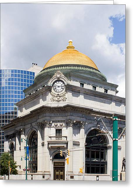 Dome Greeting Cards - Buffalo Savings Bank Greeting Card by Peter Chilelli