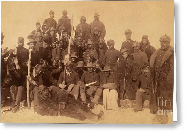 Civil Greeting Cards - Buffalo soldiers Greeting Card by Celestial Images