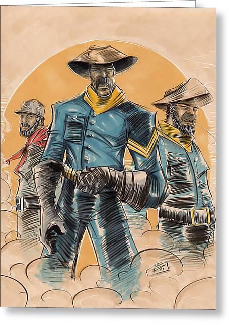 Buffalo Soldiers Greeting Card by Tu-Kwon Thomas