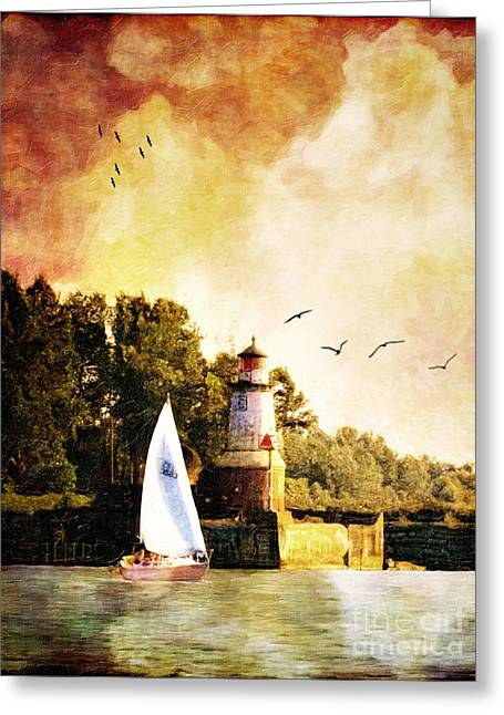Lianne Greeting Cards - Buffalo South Entrance Light Greeting Card by Lianne Schneider