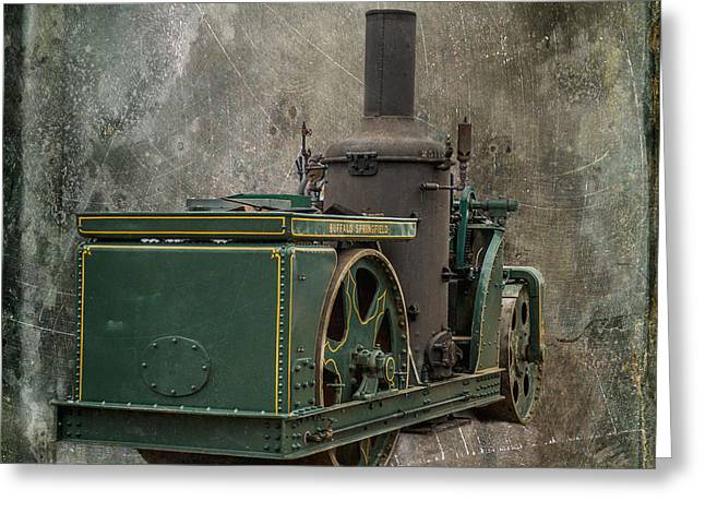 Road Roller Greeting Cards - Buffalo Springfield Steam Roller Greeting Card by Paul Freidlund