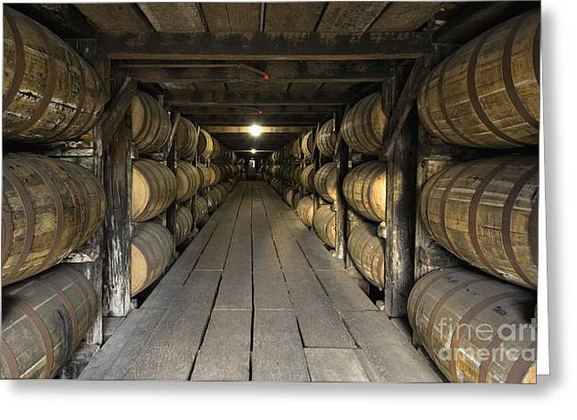 Storage Building Greeting Cards - Buffalo Trace Rick House - D008610 Greeting Card by Daniel Dempster