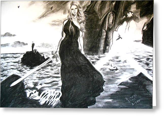 Joss Whedon Greeting Cards - Buffy Greeting Card by Demian Legg