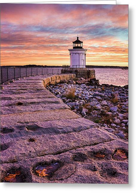 New England Ocean Greeting Cards - Bug Light Greeting Card by Benjamin Williamson