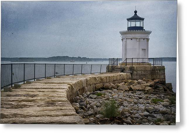 Maine Lighthouses Greeting Cards - Bug Light Greeting Card by Joan Carroll