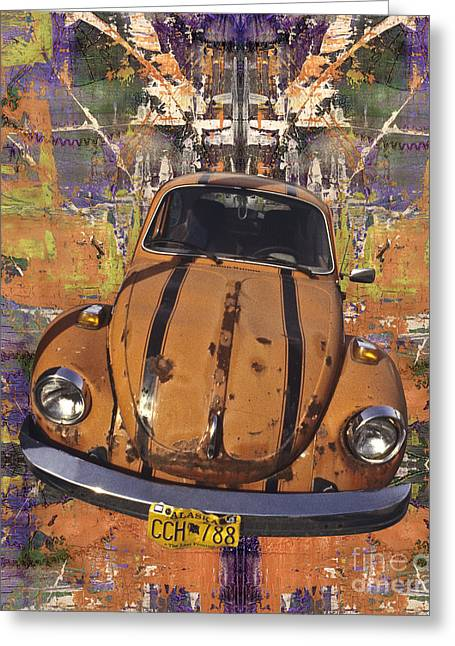 Vw Beetle Greeting Cards - Bug Love Greeting Card by Bruce Stanfield