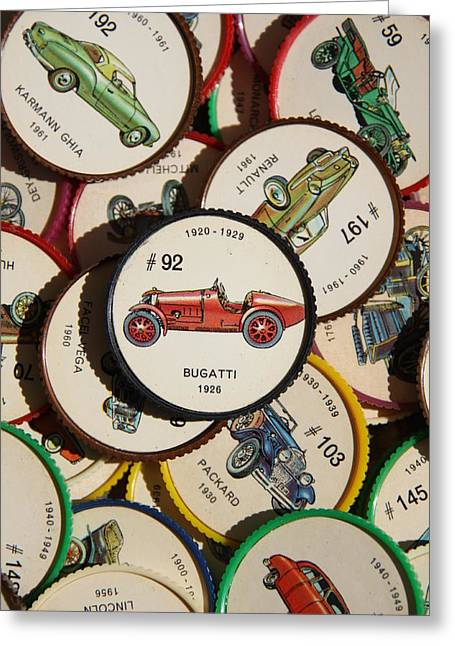 Coins Greeting Cards - Bugatti 1926 - A Greeting Card by Steve Tracy