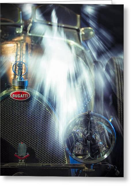 Envelope Greeting Cards - Bugatti Action Greeting Card by Erik Brede