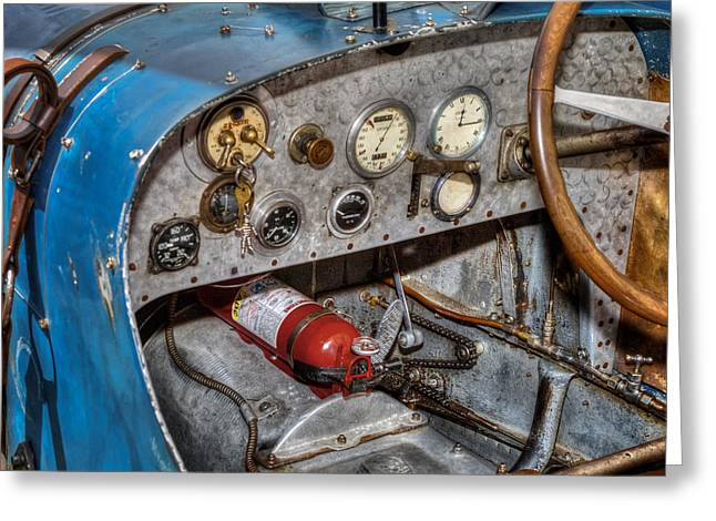 Arcas Greeting Cards - Bugatti Cockpit Greeting Card by Bill  Wakeley