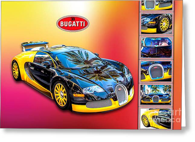 Bugatti Greeting Cards - Bugatti - Dream Car Greeting Card by Az Jackson