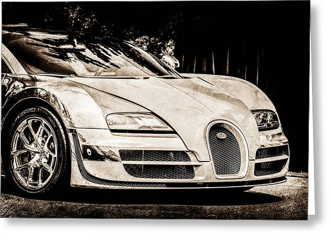 Special Edition Greeting Cards - Bugatti Legend - Veyron Special Edition -0844s Greeting Card by Jill Reger