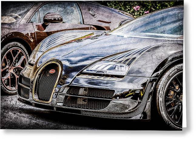 Special Edition Greeting Cards - Bugatti Legend - Veyron Special Edition -0845ac Greeting Card by Jill Reger