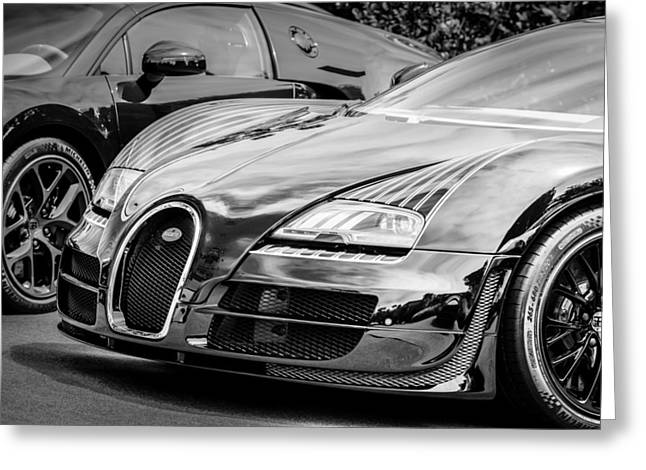Bugatti Greeting Cards - Bugatti Legend - Veyron Special Edition -0845bw Greeting Card by Jill Reger